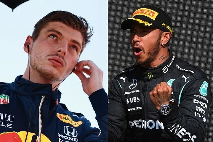 フェルスタッペン(左)とハミルトン(右)。タイトルを争う両雄は、レース中の接触によって様々な問題を巻き起こしている。(C)Getty Images