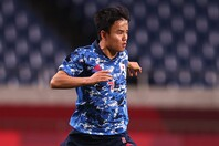 久保は2試合連続ゴールで存在感をアピールしている。(C)Getty Images