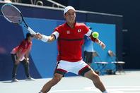 2012年のロンドン大会でベスト8、16年のリオ大会では銅メダルを獲得している錦織。(C)Getty Imaes