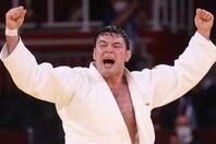 ウルフ・アロンが頂点に立ったことで、日本が柔道男子の5階級を制した。(C)Getty Images