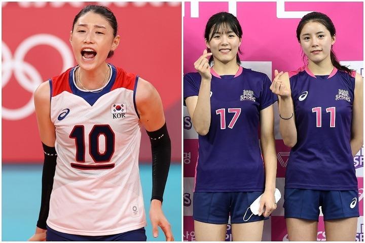 """女帝キム・ヨンギョン(左)と双子姉妹イ・ジェヨン(中央)&ダヨン(右)。騒動の引き金はダヨンの""""匂わせ投稿""""だった。(C)AFLO"""