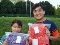 優勝の西口葉月/大内悠輔ペア。写真:昭和の森テニスセンター