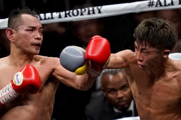 井上と拳を激しくかわす死闘を演じたドネア。そのファイティング・スピリットは多くの人々の胸を打った。 (C) Getty Images