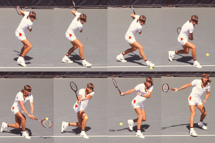 テニス界に変革をもたらしたボルグのトップスピン打法。写真:スマッシュ写真部