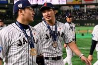 4番の重責を果たした鈴木。韓国との決勝でも1打点を挙げた。写真:金子拓弥(THE DIGEST写真部)