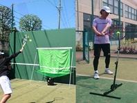 1週間に一度のレッスンでテニスがより上達してもらえるようにスクールと連携して練習器具を開発している。