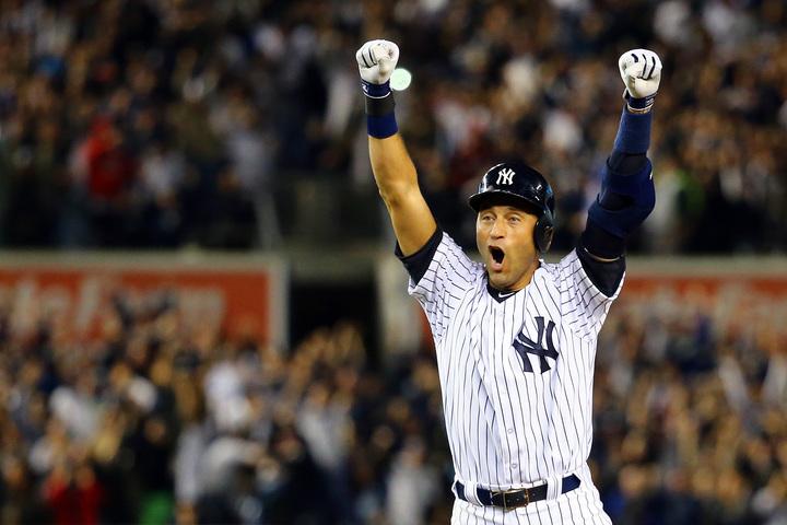 現役時代はヤンキースのチームリーダーとして絶大な人気を博したジーター。リベラに次ぐ満票での殿堂入りなるか。(C)Getty Images