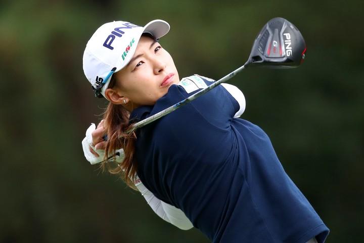 渋野は粘り強いゴルフを続けたが、思うようにスコアが伸びずに2位タイでフィニッシュした。(C)Getty Images