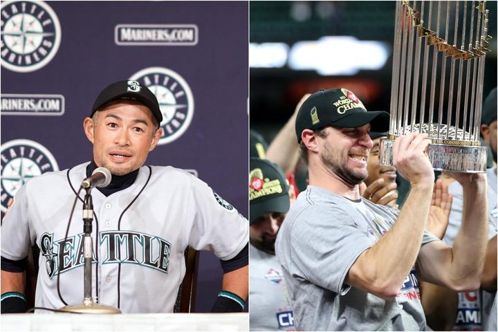 1位はもちろん、イチローの引退(左)。そしてナショナルズ史上初の世界一(右)もビッグニュースだった。(C)Getty Images