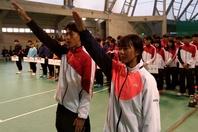 選手宣誓は黒宮大輝選手(日本工学院八王子)と倉谷実里選手(履正社スポーツ専門学校北大阪校)。