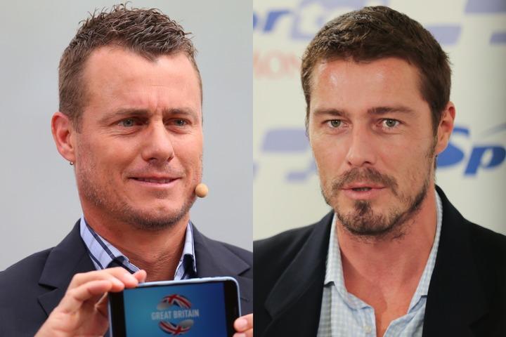 監督は、各チームのシングルスNo.1プレーヤーによって選出される。オーストラリアはヒューイット(左)、ロシアはサフィン(右)がキャプテンを務める。(C)Getty Images