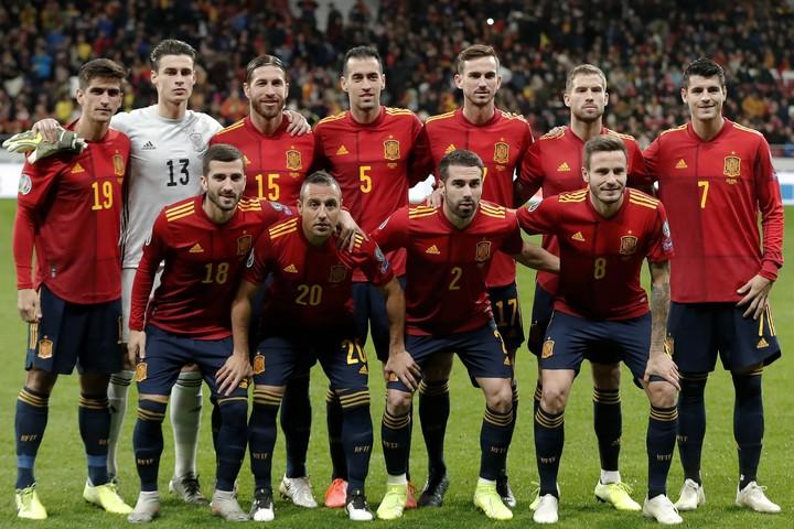 7大会連続11回目の出場となるスペイン代表。ファビアン、オジャルサバル、ダニ・オルモといった若手の台頭が目立つ。(C)Getty Images