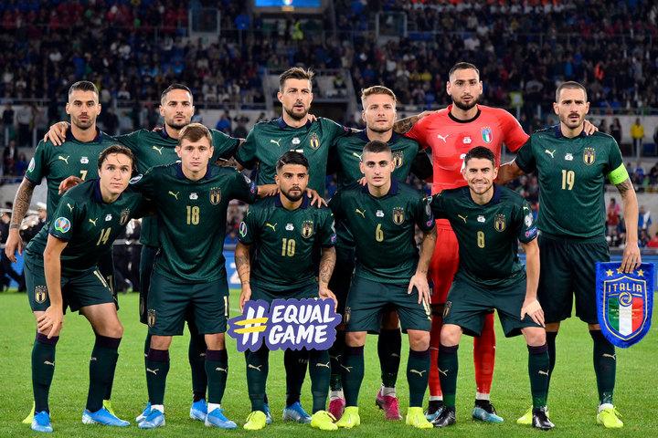 7大会連続10回目の出場となるイタリア代表。予選の10連勝は同国史上初めて。(C)Getty Images