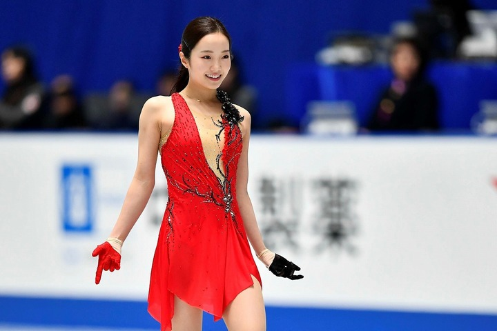 2020年最初のインスタ投稿でファンを喜ばせた本田真凜。写真:金子拓弥(THE DIGEST写真部)