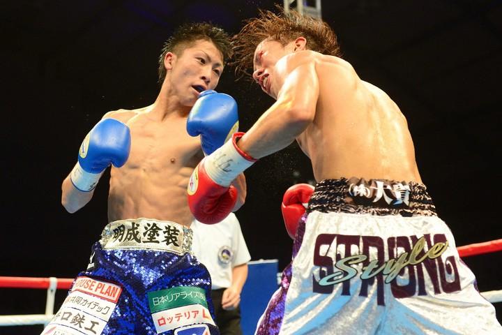 4戦目にして初タイトルを獲得した田口戦は、ベストバウトのひとつだ。写真:日刊スポーツ/朝日新聞社