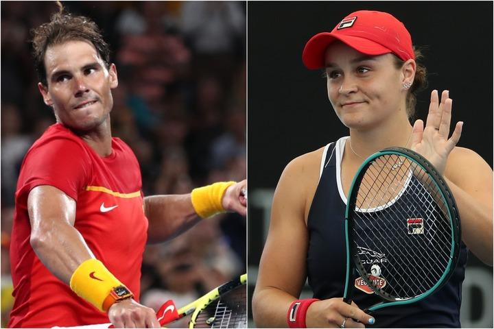 ATPランキング1位のナダル(左)とWTAランキング1位のバーティー(右)。(C)Getty Images