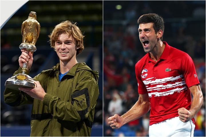 圧巻の勝ち上がりでツアー3勝目を上げたルブレフ(左)と、ATPカップで大車輪の活躍となったジョコビッチ(右) (C)GettyImages
