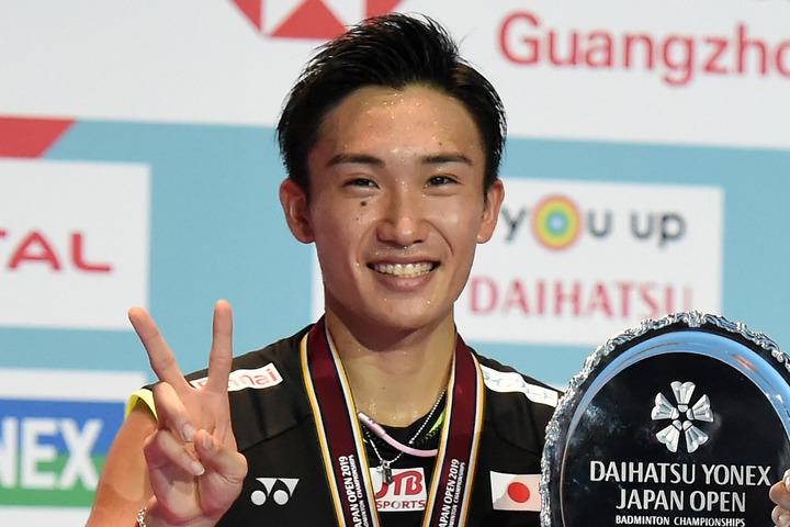 男子バドミントンでシングルス世界ランク1位の桃田賢斗。(C)Getty Images