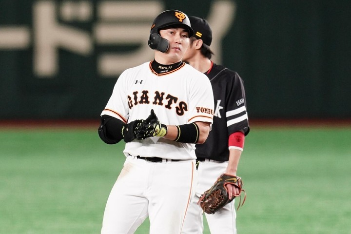 出塁率が高く、どの打順であってもフレキシブルに対応できる丸は非常に貴重な存在だ。写真:山崎賢人(THE DIGEST写真部)