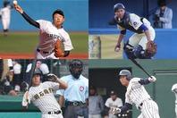 髙橋宏斗(左上)、内山壮真(右上)、来田涼斗(左下)、西川僚祐(右下)。写真:大友良行